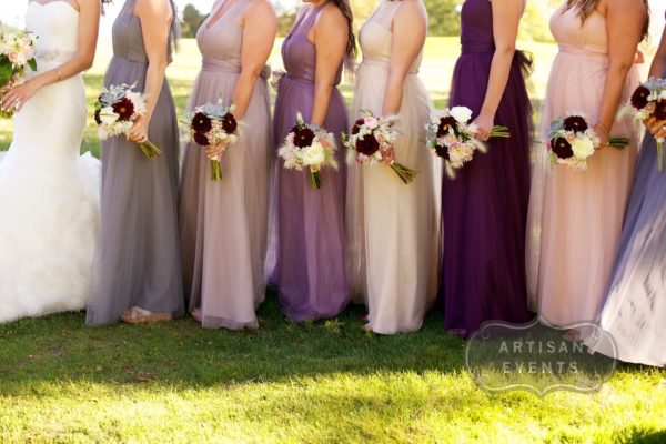Same Bridesmaid Dresses in Different Shades