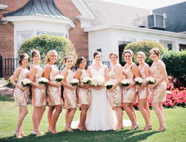 Glitter Short Bridesmaid Dresses