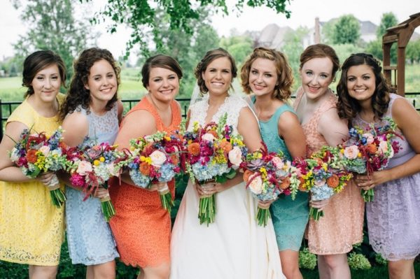 Colorful Rustic Bridesmaid Dresses