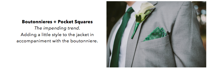 Boutonniere vs. Pocket Square