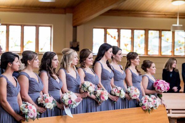 Bridesmaids in Pews