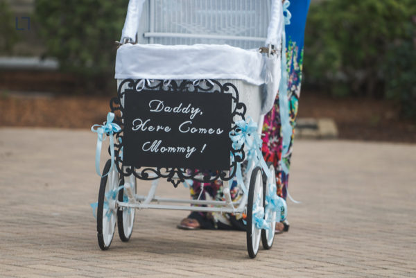 """Baby Stroller """"Daddy, Here Comes Mommy!"""""""