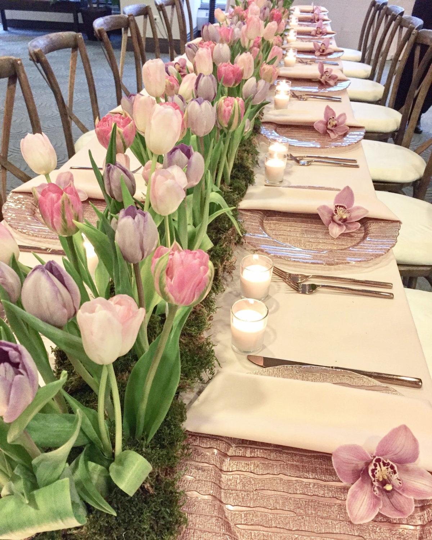 tulip tablescape