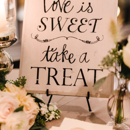wedding favor signage